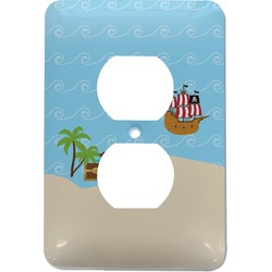 Pirate Scene Electric Outlet Plate (Personalized)