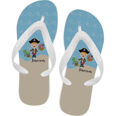 Pirate Scene Flip Flops (Personalized)
