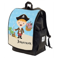 Pirate Scene Backpack w/ Front Flap  (Personalized)