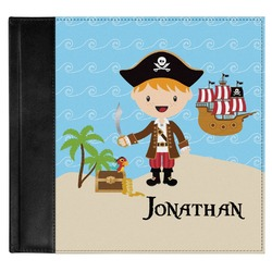 Pirate Scene Genuine Leather Baby Memory Book (Personalized)