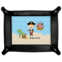 Pirate Scene Genuine Leather Valet Tray (Personalized)