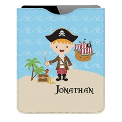 Pirate Scene Genuine Leather iPad Sleeve (Personalized)