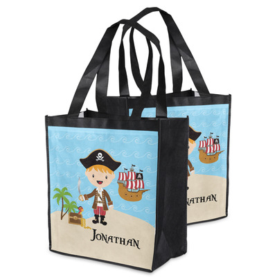 Pirate Scene Grocery Bag (Personalized)