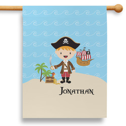 """Pirate Scene 28"""" House Flag (Personalized)"""