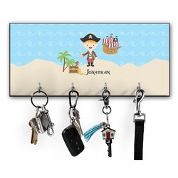 Pirate Scene Key Hanger w/ 4 Hooks (Personalized)