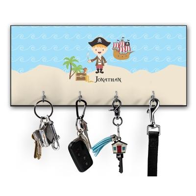 Pirate Scene Key Hanger w/ 4 Hooks (Personalized)