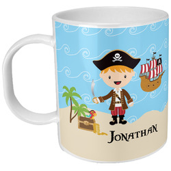 Pirate Scene Plastic Kids Mug (Personalized)