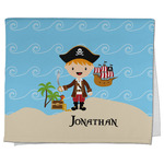 Pirate Scene Kitchen Towel - Full Print (Personalized)