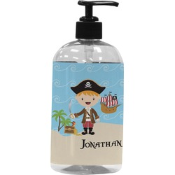 Pirate Scene Plastic Soap / Lotion Dispenser (Personalized)
