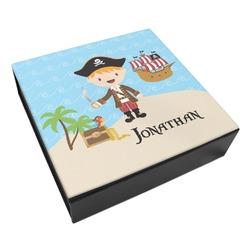 Pirate Scene Leatherette Keepsake Box - 3 Sizes (Personalized)