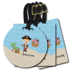 Pirate Scene Plastic Luggage Tags (Personalized)