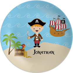 "Pirate Scene Melamine Plate - 8"" (Personalized)"