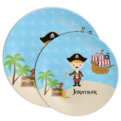 Pirate Scene Melamine Plate (Personalized)