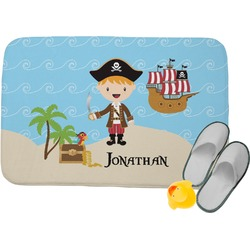 Pirate Scene Memory Foam Bath Mat (Personalized)