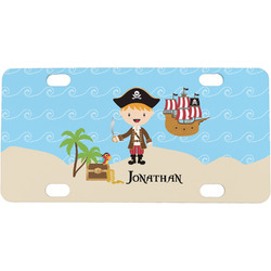 Pirate Scene Mini / Bicycle License Plate (4 Holes) (Personalized)