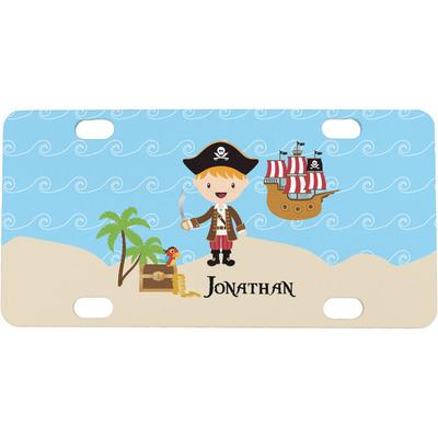 Pirate Scene Mini / Bicycle License Plate (Personalized)