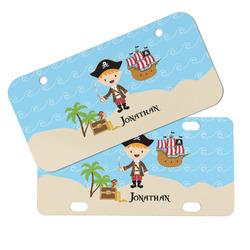 Pirate Scene Mini/Bicycle License Plates (Personalized)