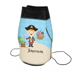 Pirate Scene Neoprene Drawstring Backpack (Personalized)