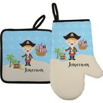 Pirate Scene Oven Mitt & Pot Holder (Personalized)