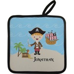 Pirate Scene Pot Holder w/ Name or Text