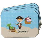 Pirate Scene Dining Table Mat - Octagon w/ Name or Text