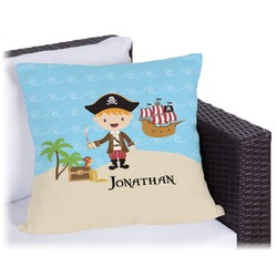 "Pirate Scene Outdoor Pillow - 20"" (Personalized)"