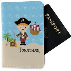 Pirate Scene Passport Holder - Fabric (Personalized)