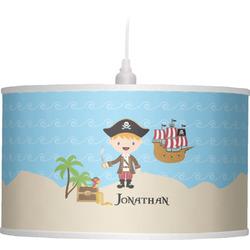 Pirate Scene Drum Pendant Lamp (Personalized)