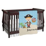 Pirate Scene Baby Blanket (Personalized)
