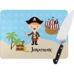 Pirate Scene Rectangular Glass Cutting Board (Personalized)