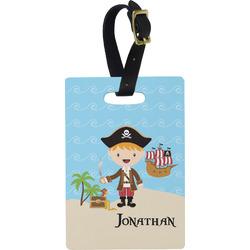 Pirate Scene Rectangular Luggage Tag (Personalized)