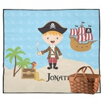 Pirate Scene Outdoor Picnic Blanket (Personalized)