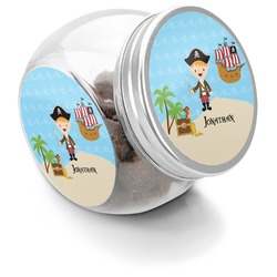 Pirate Scene Puppy Treat Jar (Personalized)