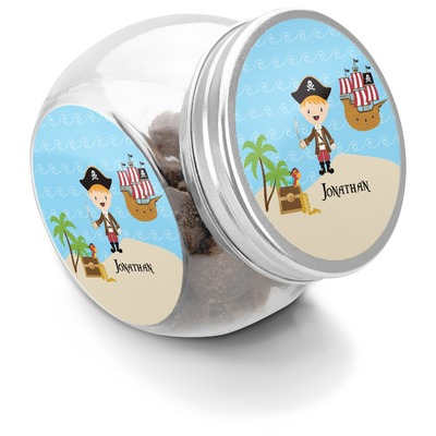 Pirate Scene Puppy Treat Jar (Personalized)