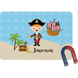 Pirate Scene Rectangular Fridge Magnet (Personalized)