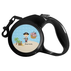 Pirate Scene Retractable Dog Leash - Multiple Sizes (Personalized)