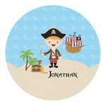 Pirate Scene Round Decal (Personalized)