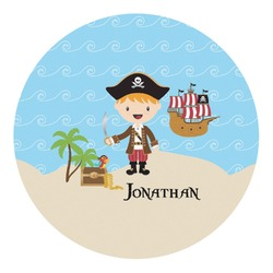 Pirate Scene Round Decal - Custom Size (Personalized)