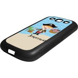 Pirate Scene Rubber Samsung Galaxy 3 Phone Case (Personalized)