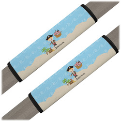 Pirate Scene Seat Belt Covers (Set of 2) (Personalized)