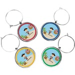 Pirate Scene Wine Charms (Set of 4) (Personalized)