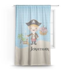 Pirate Scene Sheer Curtains (Personalized)