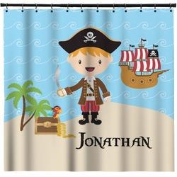 Pirate Scene Shower Curtain (Personalized)