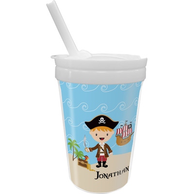 Pirate Scene Sippy Cup with Straw (Personalized)