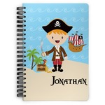 Pirate Scene Spiral Bound Notebook (Personalized)