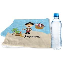 Pirate Scene Sports Towel (Personalized)