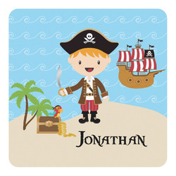 Pirate Scene Square Decal - Custom Size (Personalized)