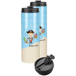 Pirate Scene Stainless Steel Skinny Tumbler (Personalized)