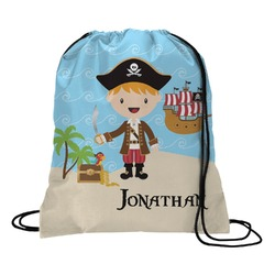 Pirate Scene Drawstring Backpack (Personalized)