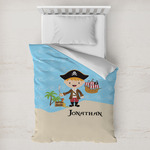 Pirate Scene Toddler Duvet Cover w/ Name or Text